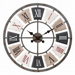 Horloge Murale Maison Du Monde : horloge en m tal d 62 cm horloge maison du monde et le monde ~ Teatrodelosmanantiales.com Idées de Décoration