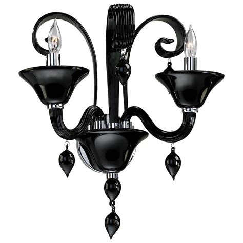 treviso 2 light opaque black murano glass wall sconces