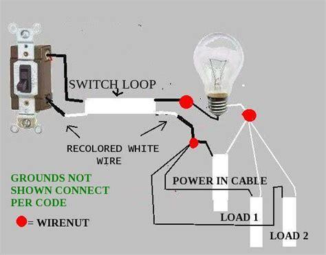wiring  light fixture light switch