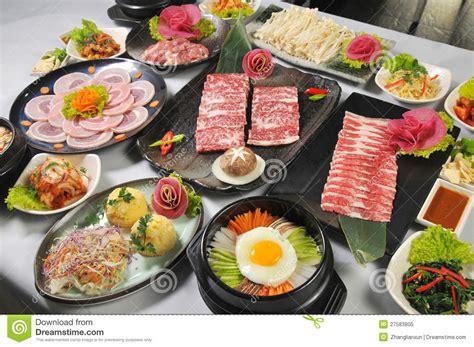 cuisine coreenne cuisine coréenne photo libre de droits image 27583805