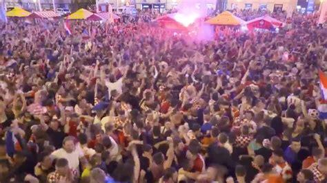 World Cup Croatia Fans Celebrate Game Winning Goal