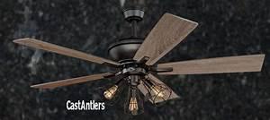 Standard size fans quot edison rustic ceiling fan w