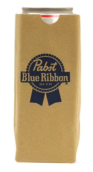 It only costs $5 to add a layer of protection to your baggage and for blue ribbons bags to track your bag! PBR Brown Bag Koozie   Ribbon logo, Pabst blue ribbon ...