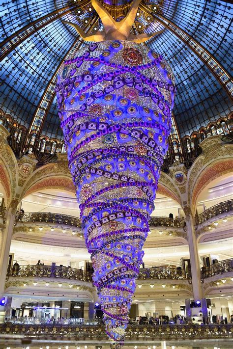 galeries lafayette christmas decorations inauguration