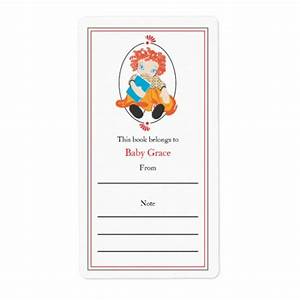 doll bookplate shipping label zazzle With bookplate templates for word
