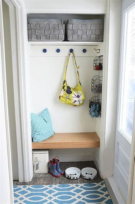 Entry Closet Organization Ideas by How To Make A Mini But Mighty Makeshift Mudroom Diy
