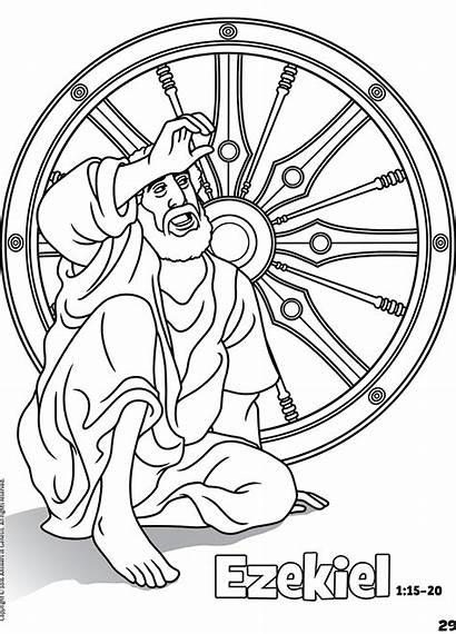 Coloring Bible Ezekiel Books Pages Matthew Activities