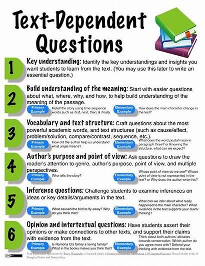 Text Dependent Questions Reading Close Read Complex