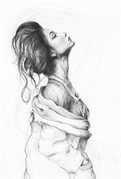 pretty lady drawing  olga shvartsur