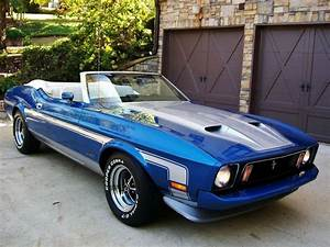 American Muscle Cars… 1973 Ford Mustang Convertible Q-Code ,351 Cleveland 4 Barrel Cobra Jet ...