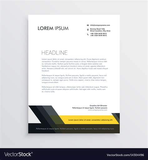 business letterhead design template royalty  vector
