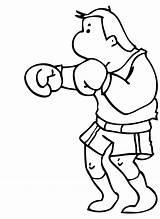 Coloring Boxing Boxer Clipart Cartoon Rocky Cliparts Balboa Clip Popular Library Template Coloringhome sketch template