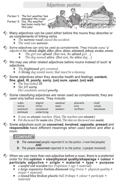 Grade 10 Grammar Lesson 19 Adjectives Position (1)  Eld Teaching  Pinterest  Grammar Lessons