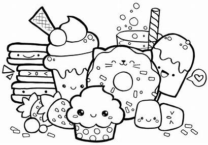 Coloring Pages Kawaii Faces Drawing Doodle Drawings