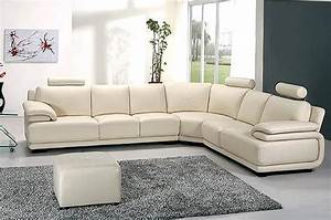 White Leather Sectional 43 Leather Sectionals