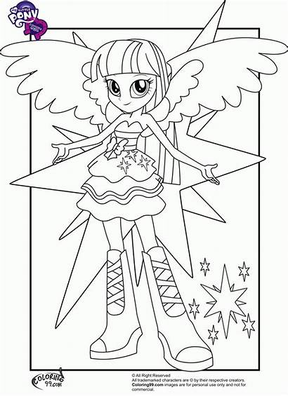 Coloring Pony Human Pages Twilight Sparkle Popular