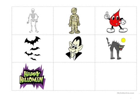 Halloween Flashcards Worksheet  Free Esl Printable Worksheets Made By Teachers