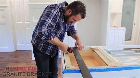 install hidden countertop support bracket