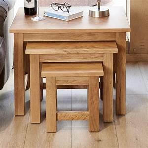 Abdabs Furniture Nest Of 3 Coffee Tables Mobel Oak
