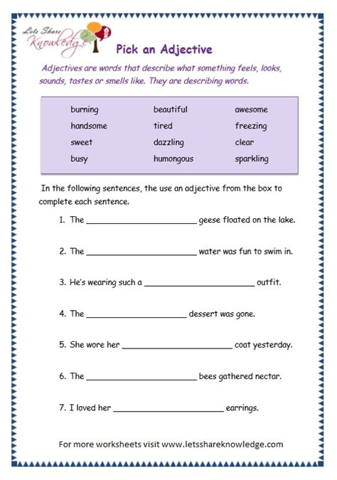 all worksheets 187 degrees of adjectives worksheets for