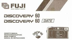 Fuji Discovery 60 35mm Camera Owners Instruction Manual