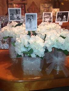 60th anniversary party idea for table centerpiece put a With 60th wedding anniversary party ideas