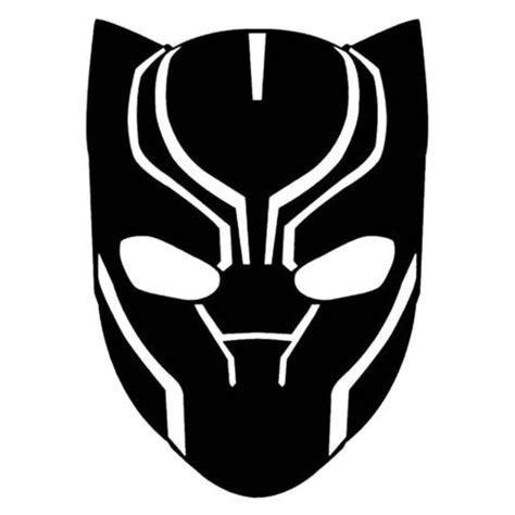 black panther mask template black panther marvel comics sticker vinyl decal window laptop oracal panteras