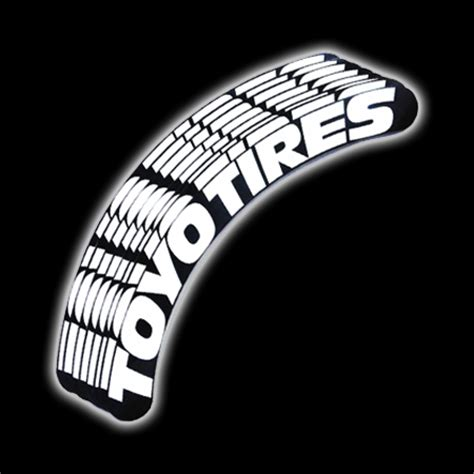 toyo tires tire sticker white  black