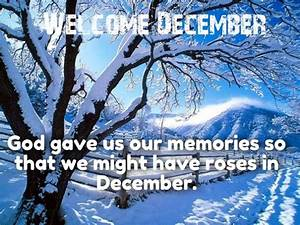 Hello and Welcome December Quotes with Images