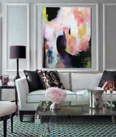 Abstract Acrylic Painting Modern Living Room