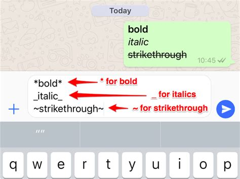 how to write bold and italic text on whatsapp business