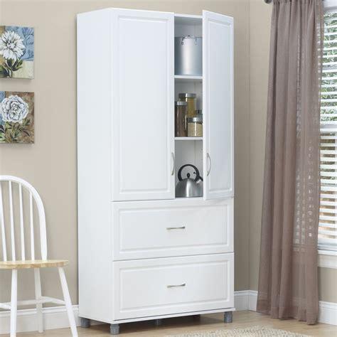 systembuild kendall white  door  drawer combination storage unit kitchen storage cabinet