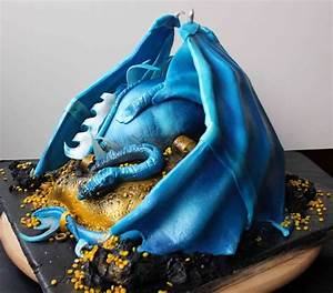 Blue Dragon Cake - CakeCentral com