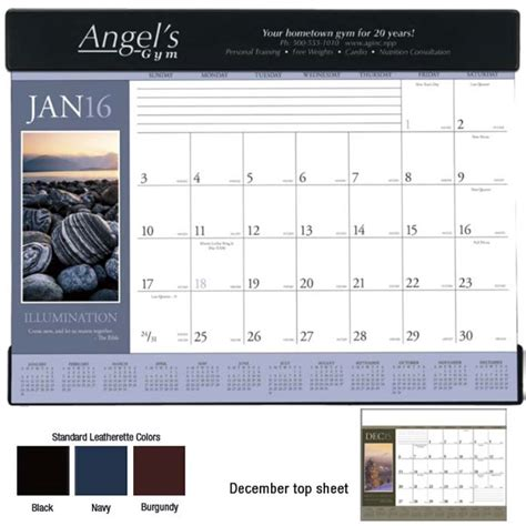 real estate desk calendars motivational desk pad calendar for advertising 4allpromos