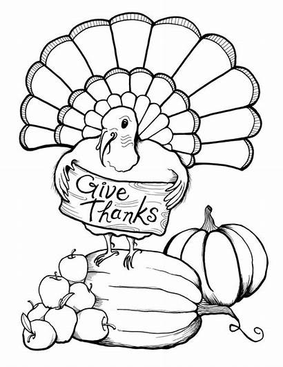 Coloring Adults Thanksgiving Pages Thanks Give