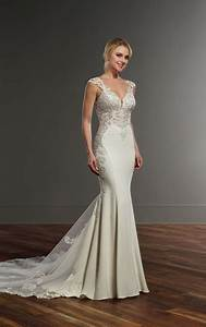 wedding dresses crepe wedding dress with side cutouts With crepe wedding dress
