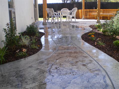 New Patio Designs by Texture Awesome Sted Concrete Patio Design With