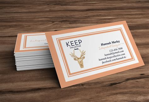 Keep Collective Business Cards · Hearts & Arrows Design