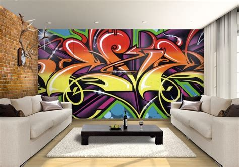 graffiti wallpaper custom wallpaper mural print  jw