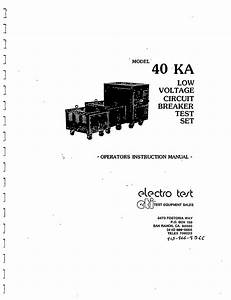 40ka Low Voltage Circuit Breaker Test Set Manual