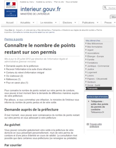 conna 238 tre le nombre de points restant sur permis de conduire - Point Permis Restant