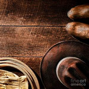 Rodeo Background Photograph by American West Decor By