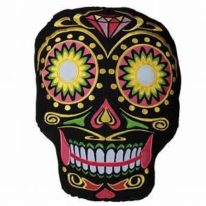 Tete De Mort Mexicaine Femme : coussin t te de mort mexicaine le cadeau d co ~ Melissatoandfro.com Idées de Décoration