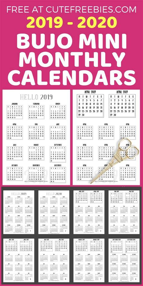 bullet journal calendar printable stickers