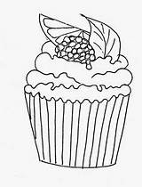 Cupcake Cupcakes Muffin Coloring Desenhos Ice Colorir Riscos Disegno Colorear Cakes Doces Muffins Drawing Ausmalen Pintura Printable Bolos Sorvete Desenho sketch template