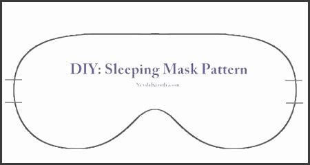 diy sleep mask template sampletemplatess