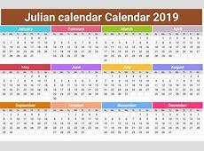 Julian Calendar – printable month calendar