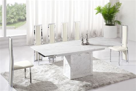 white marble table l lighten up dinner time with these 15 white dining room tables