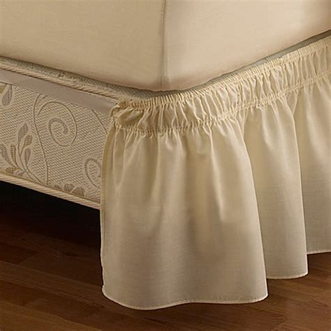 buy ruffled queenking solid adjustable bed skirt  ivory
