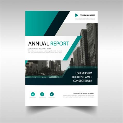 Abstract Annual Report Template Vector Free